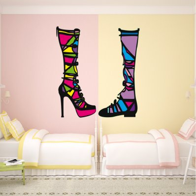 Vinilo decorativo botas