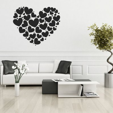 Vinilo decorativo corazón