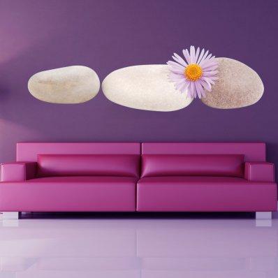 Vinilo decorativo guijarros Floral