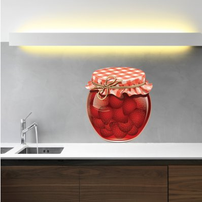 Vinilo decorativo tarro de mermelada
