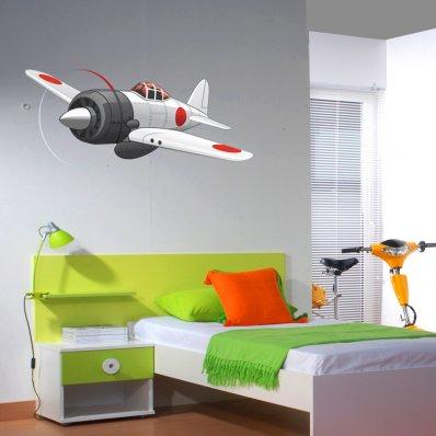 Vinilo infantil avión