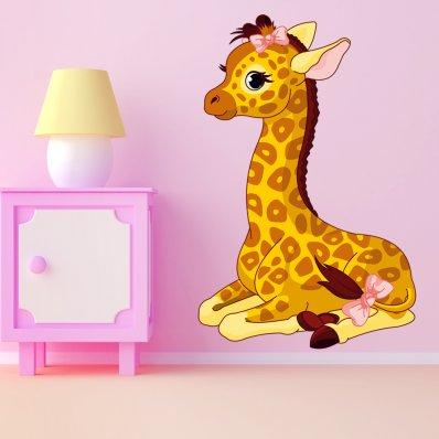 Vinilo infantil bebé jirafa