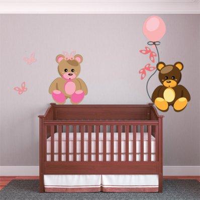 Vinilo infantil cachorro de oso
