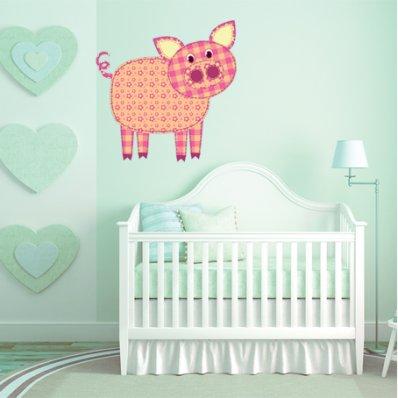 Vinilo infantil cerdo