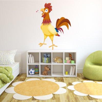 Vinilo infantil gallino