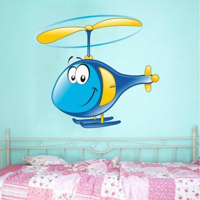 Vinilo infantil helicóptero
