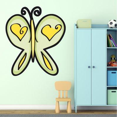 Vinilo infantil mariposa