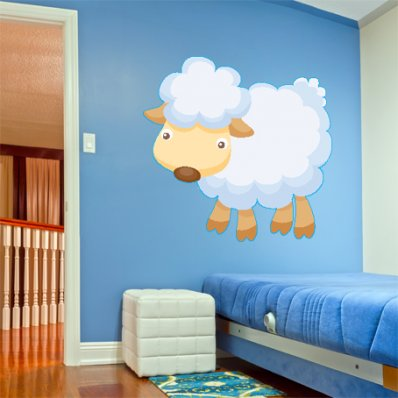 Vinilo infantil oveja