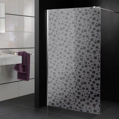 Vinilo para mampara de ducha multicuadrados
