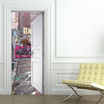 Vinilo para Puerta Graffitis