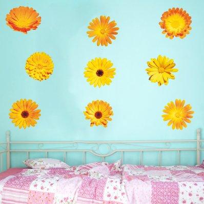 Wandsticker Blumen Set
