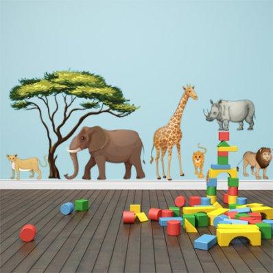 Wandsticker Tiere Set