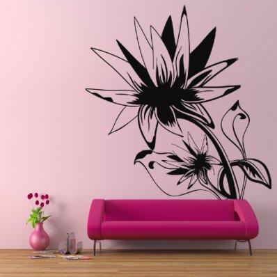 Wandtattoo Blume