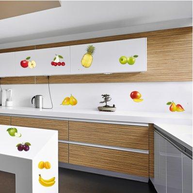 Wandtattoo Früchte Set