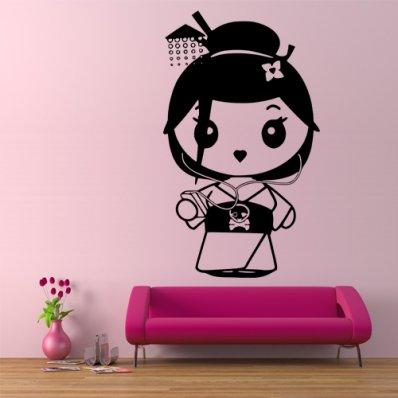 Wandtattoo Geisha