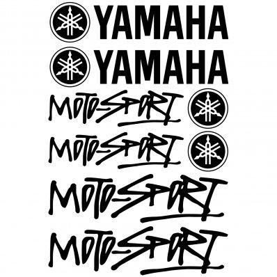 Yamaha Moto-sport Decal Stickers kit