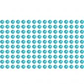 160 Estrás adhesivos turquesa