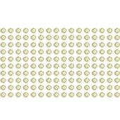 160 Strass adesivo branco perondado