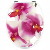 Adesivo copri WC orchidea