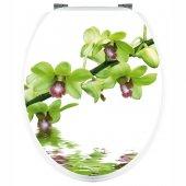 Adesivo copri WC ramo orchidea