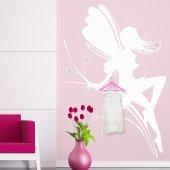 Adesivo Murale Appendiabiti fata