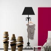 Adesivo Murale Appendiabiti lampada