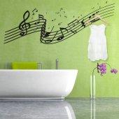 Adesivo Murale Appendiabiti musica