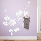 Adesivo Murale Appendiabiti orchidea
