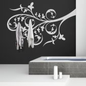 Adesivo Murale Appendiabiti ramo
