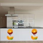 Adesivo Murale arancione cioccolato
