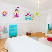Adesivo Murale bambino accessori principessa