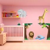 Adesivo Murale bambino animali