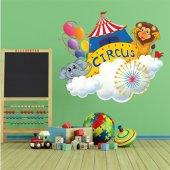 Adesivo Murale bambino animali del circo