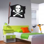 Adesivo Murale bambino bandiera pirata