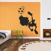 Adesivo Murale bambino calcio