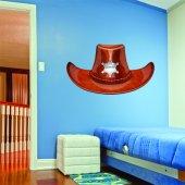 Adesivo Murale bambino cappello sceriffo