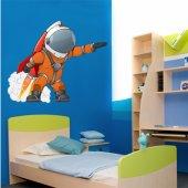 Adesivo Murale bambino cosmonauta