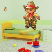 Adesivo Murale bambino cowboy