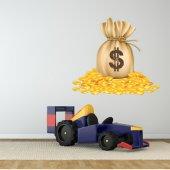 Adesivo Murale bambino dollari