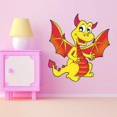 Adesivo Murale bambino drago
