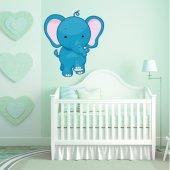 Adesivo Murale bambino elefantino