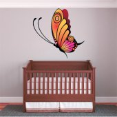 Adesivo Murale bambino farfalle
