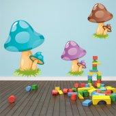 Adesivo Murale bambino funghi