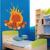 Adesivo Murale bambino fuoco