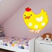 Adesivo Murale bambino gallina