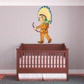 Adesivo Murale bambino giovane indiano