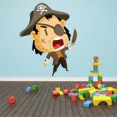 Adesivo Murale bambino giovane pirata