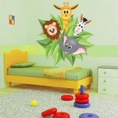 Adesivo Murale bambino giungla