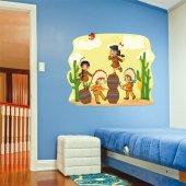 Adesivo Murale bambino indiani