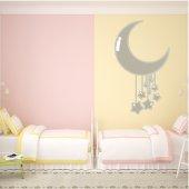 Adesivo Murale bambino luna stelle